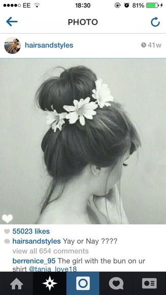 floral daisy hair accessories bun bobble