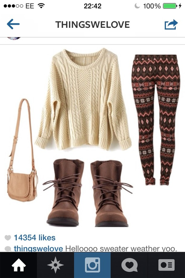 sweater shoes pants