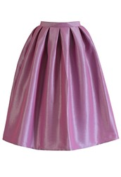 skirt,chicwish,lilac pink,a-line midi skirt