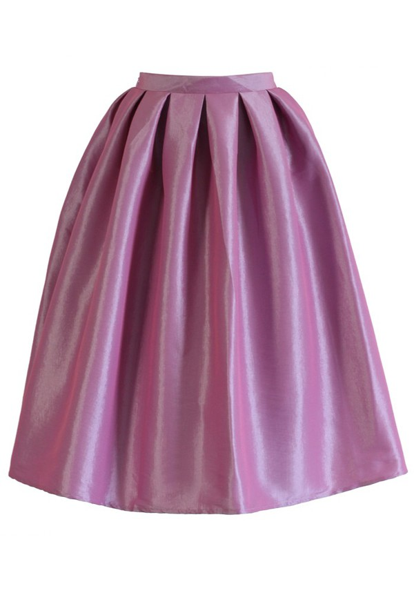 skirt chicwish lilac pink a-line midi skirt