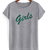 Girls green letters friend tv show T-shirt