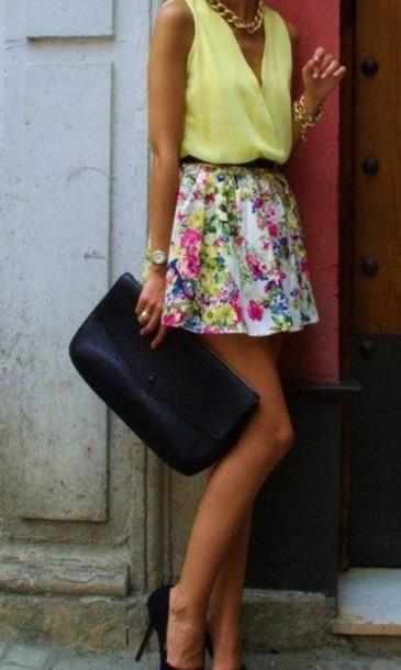 skirt floral skirt floral blouse sheer flowy