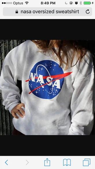 sweater nasa oversized sweater white sweater