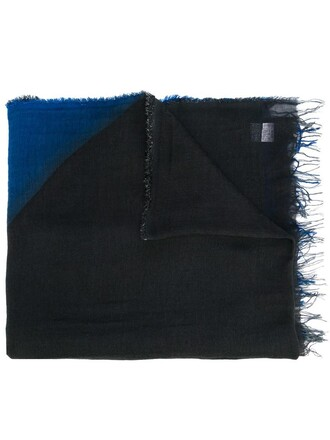 women new scarf black silk