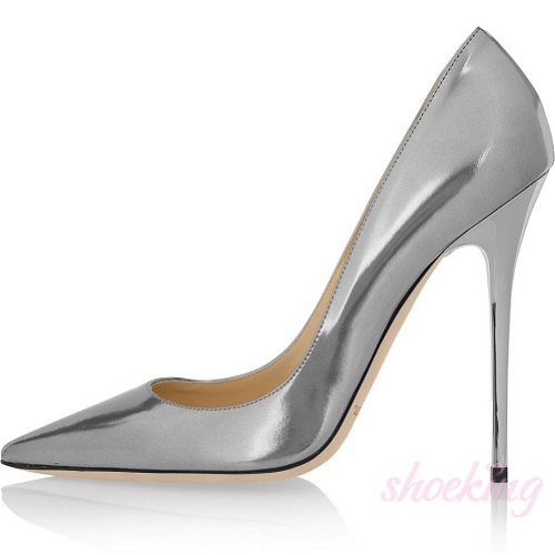 anouk metallic leather silver pumps 20122502 cheap high heel shoes outlet. Black Bedroom Furniture Sets. Home Design Ideas