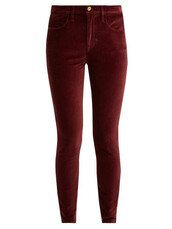 jeans,cotton,velvet,burgundy