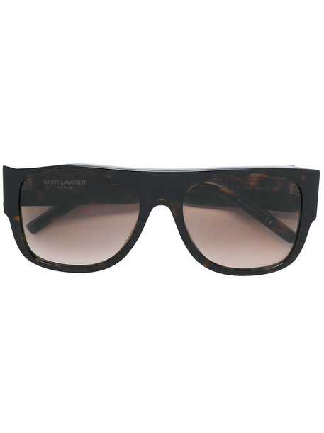Saint Laurent Eyewear - SLM16 002 sunglasses - women - Acetate - 55, Brown, Acetate