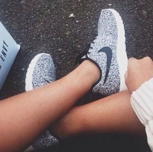 shoes nike black grey white