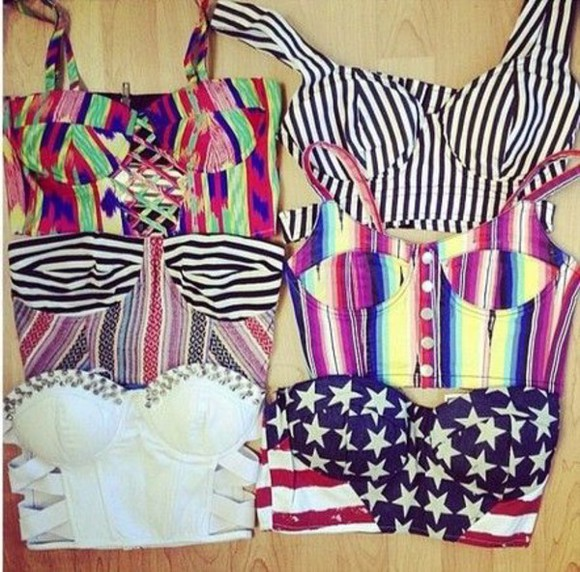 american flag top bralette