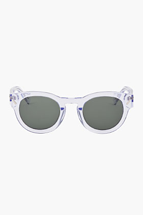 Kenzo Clear Round Frame Sunglasses for men | SSENSE