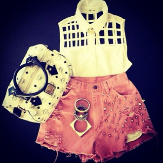 shirt bag shorts bangles