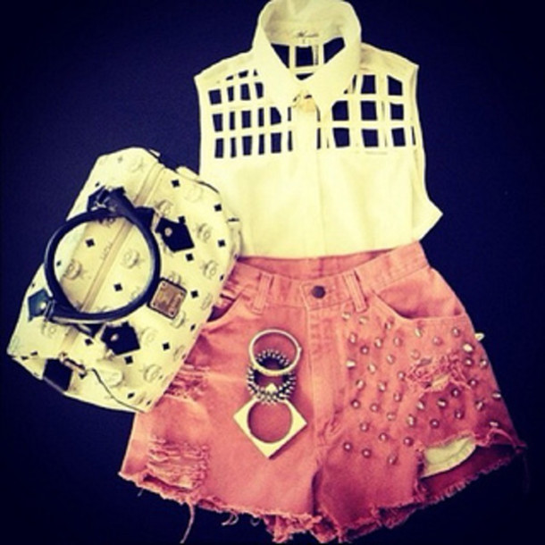 shirt bag shorts bangle