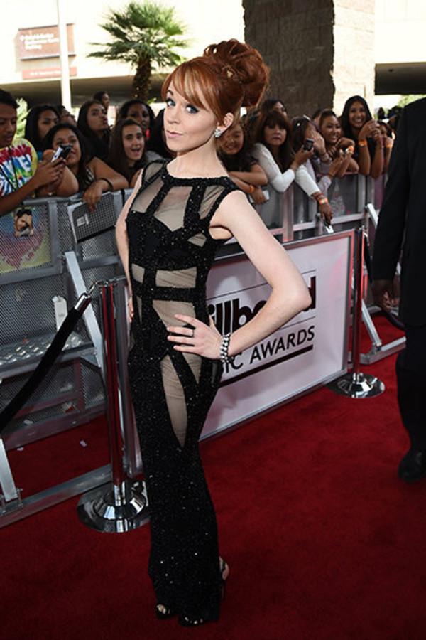Dress Gown Billboard Music Awards Prom Dress Black