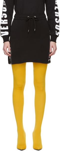 Versus miniskirt drawstring black skirt
