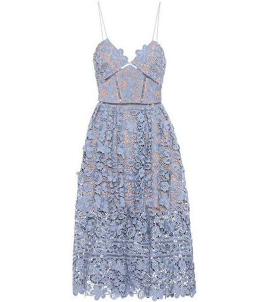 self-portrait dress floral blue