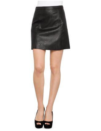 Get Serious Pu Skirt | David Jones
