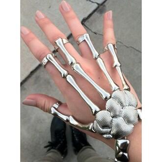 jewels punk bracelet skeleton bones jewerly cool bracelet