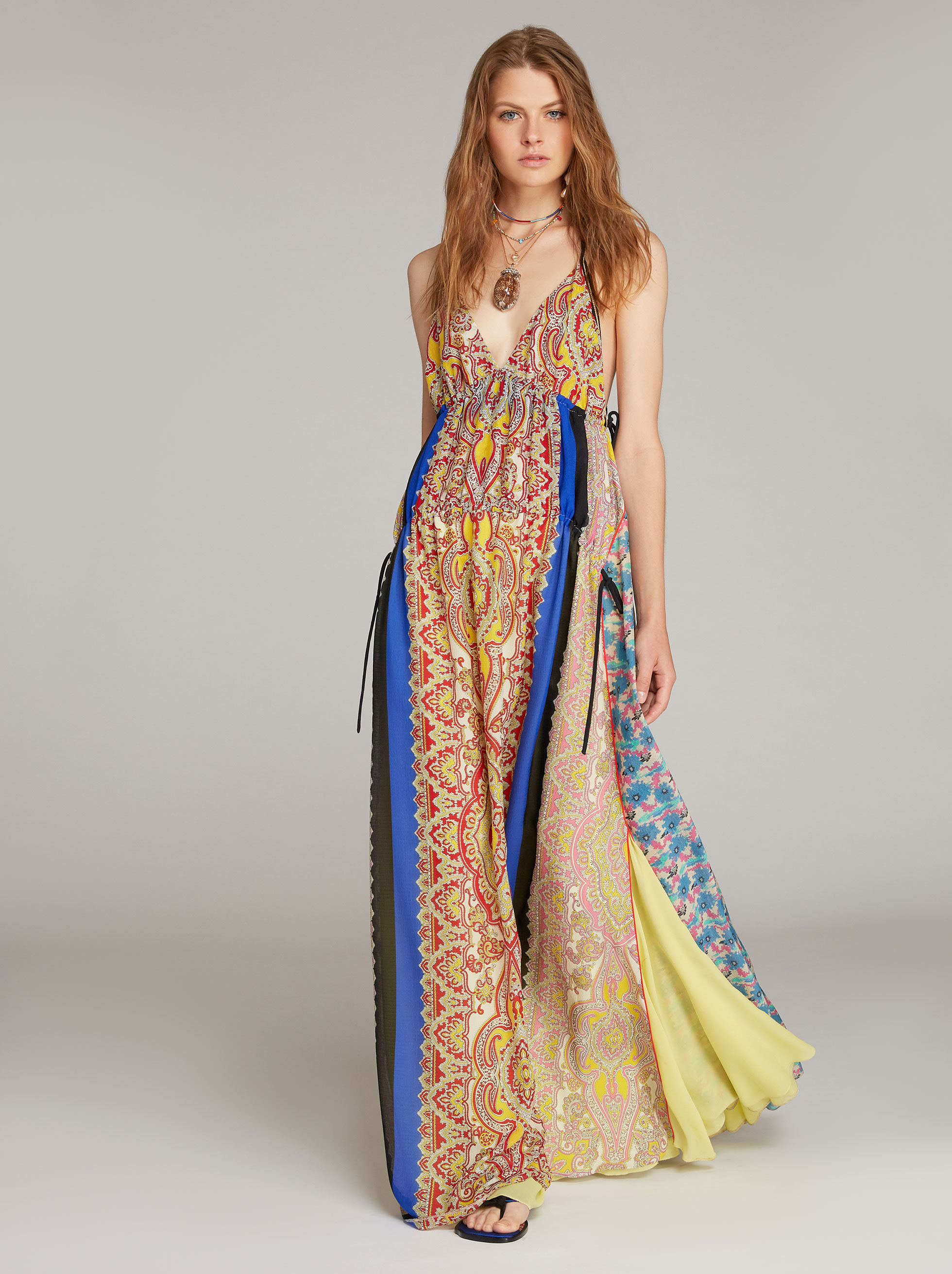 Dresses Woman: Silk Paisley-print Long Dress | Etro