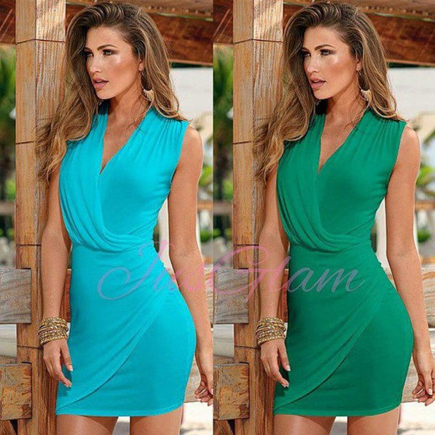 dress blue dress sky blue summer dress sexy dress clubwear club dress spring dress short dress clothes clothes