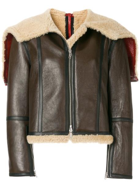 CALVIN KLEIN 205W39NYC jacket shearling jacket fur women brown