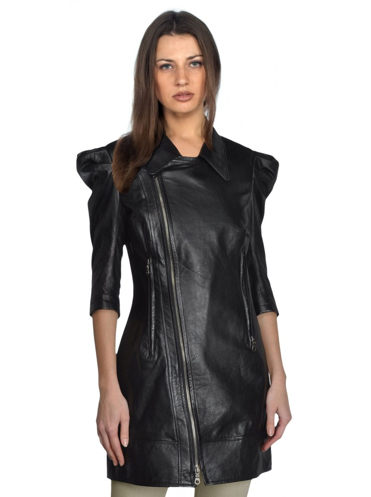 W1067 WOMEN'S REGULAR LAMBSKIN LEATHER JACKET