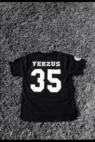 black shirt kanye west yeezus yeezus jersey