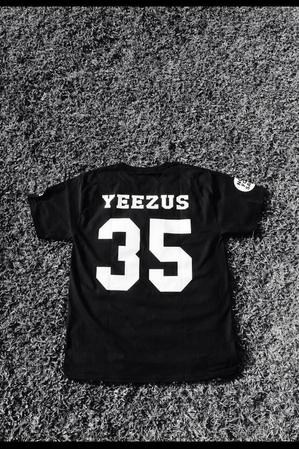 shirt black kanye west yeezus jersey