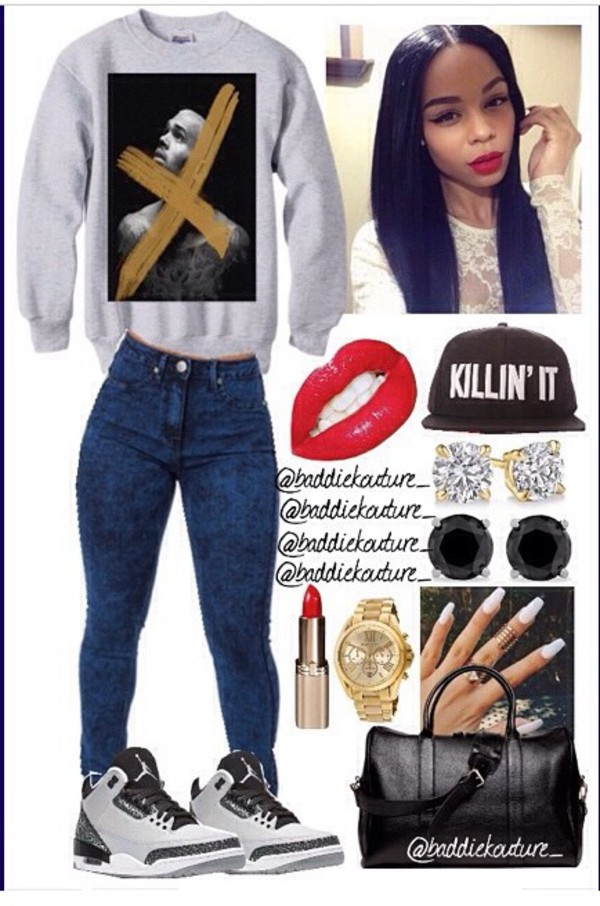 chris brown sweater jordans bag skinny jeans bottoms jeans denim skinny jeans jewels jewelry shirt