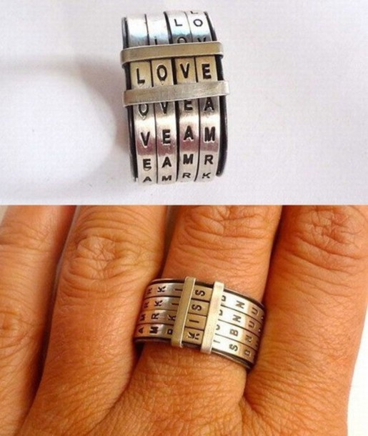 jewels silver ring text