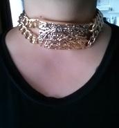 jewels,jewelry,gold,choker necklace,rihanna,necklace