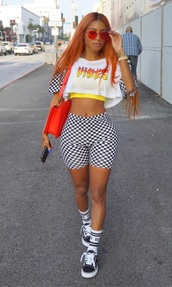 shirt,vibe,vibes,checkered,checkerboard,dope,sexy,checkered shirt,checkerboard shirt,checkered pants,checkerboard pants,checkered shorts,checkerboard shorts,cute,orange,yellow,white,black,summer outfits,crop tops,vans,cute outfits
