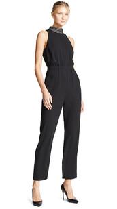 jumpsuit,bright,black