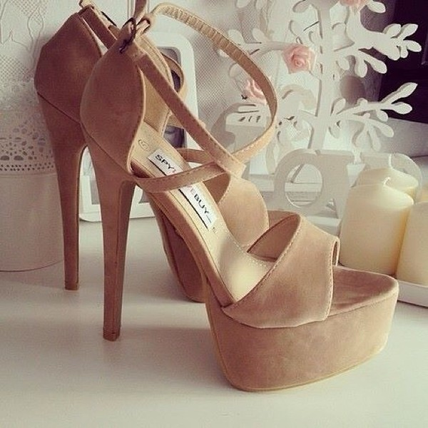 shoes high heels pink nude nude high heels heels talons beige plateau suede cute girly high heel sandals nude sandals