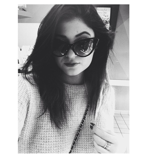 sweater kylie jenner sunglasses dress