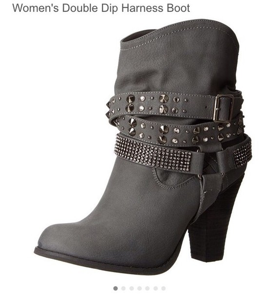 shoes gray ankle boots