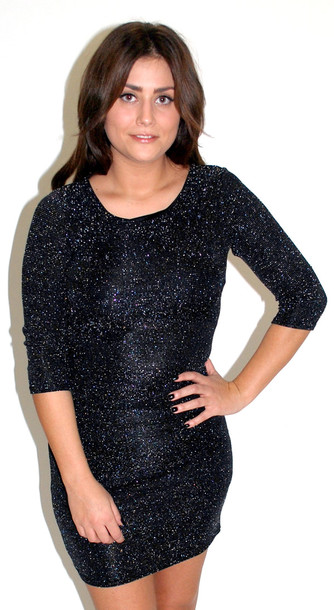dress glitter dress glitter party dress sparkly dress black
