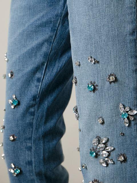 Pinko crystal embellished jeans
