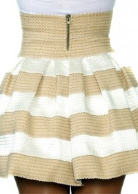 Pleasure doing business 5 band pleated skirt in peaches and cream (sold out)