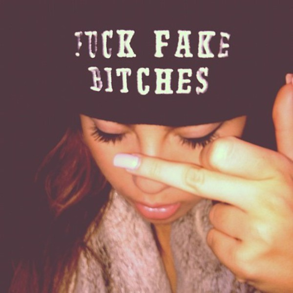 fuck fake bitches beanie bitch swag bitch