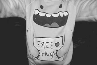 sweater sweatshirt free hugs