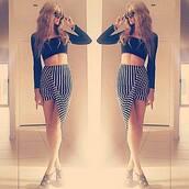 skirt,stripes,high low,high waisted skirt,high waisted,black white stripe,vertical stripes