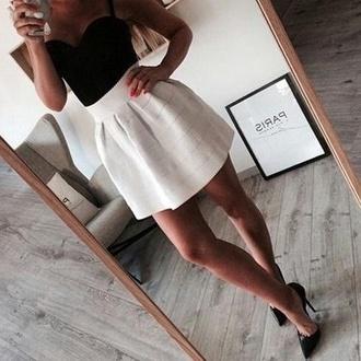 skirt shirt black skirt