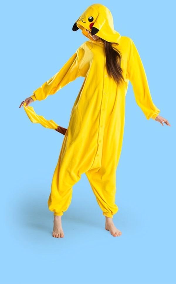 sweater pikachu yellow pokemon