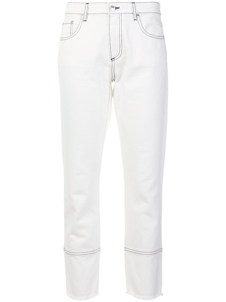 MSGM jeans cropped jeans cropped women white cotton