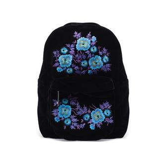 bag flowers ethnic backpack black