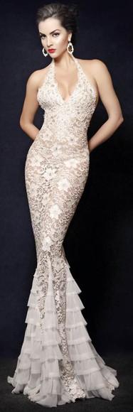 gown laces dress