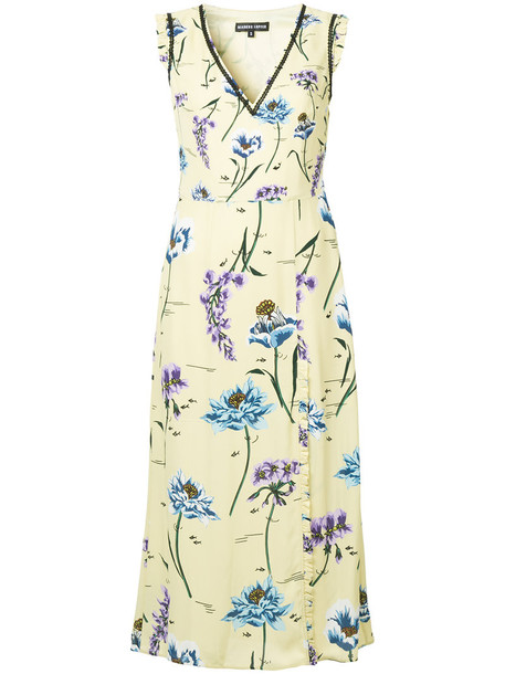 Markus Lupfer dress print dress women floral print yellow orange