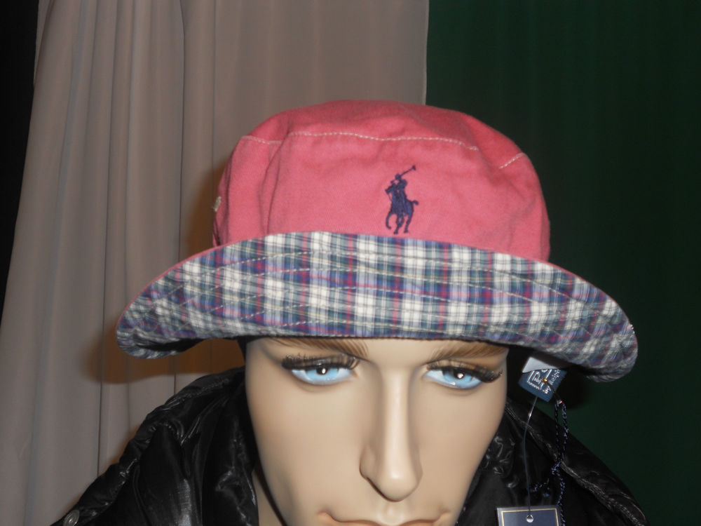 d0562ae4d07 Polo Ralph Lauren REVERSIBLE bucket hat vintage brick large   xlarge