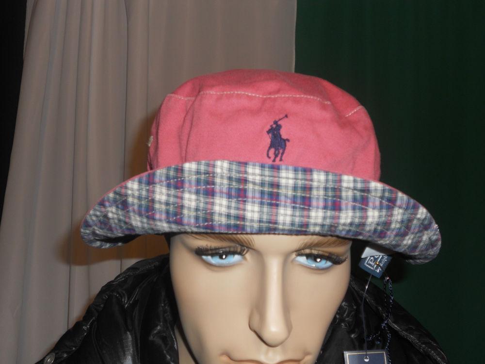 Polo Ralph Lauren REVERSIBLE bucket hat vintage brick large   xlarge df758e4e76d