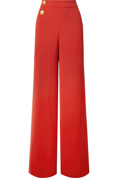 Alice   Olivia - Florinda crepe wide-leg pants